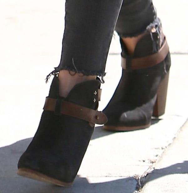 "Hilary Duff'sRag & Bone ""Harrow"" boots"