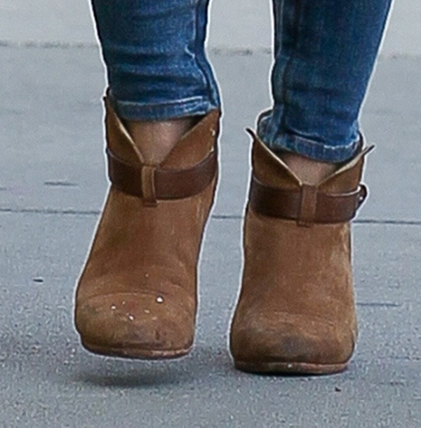 "Hilary Duff's brown Rag & Bone ""Harrow"" boots"