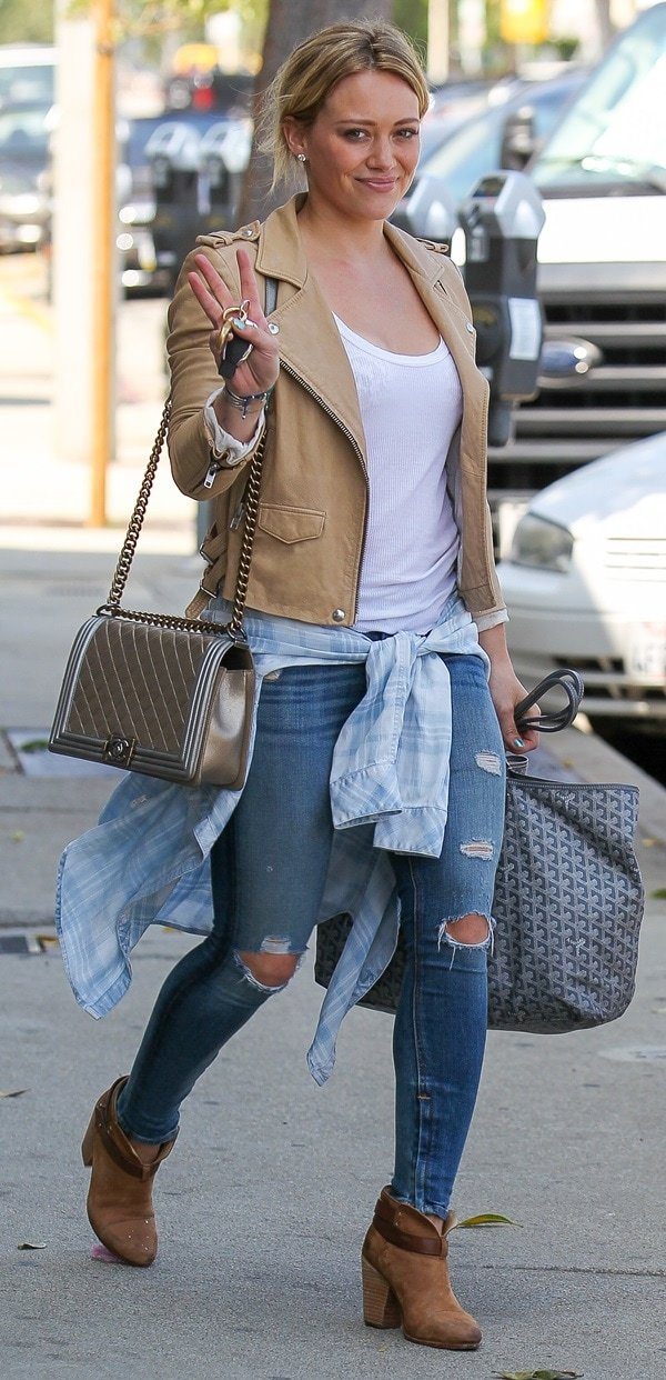 Hilary Duff leaving a gym in Los Angeles