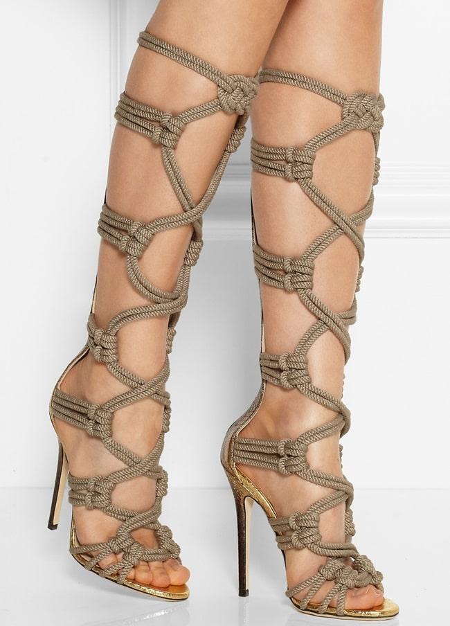 Jimmy Choo Keane Elaphe Sandals