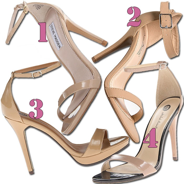 Nude ankle strap sandals