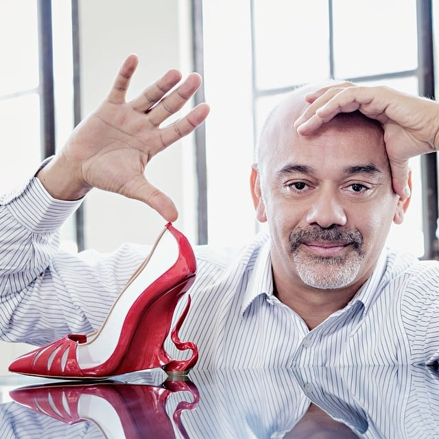 "Christian Louboutin with his ""Malangeli"" shoe design"
