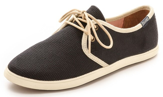 Soludos Woven Sand Sneakers in Black