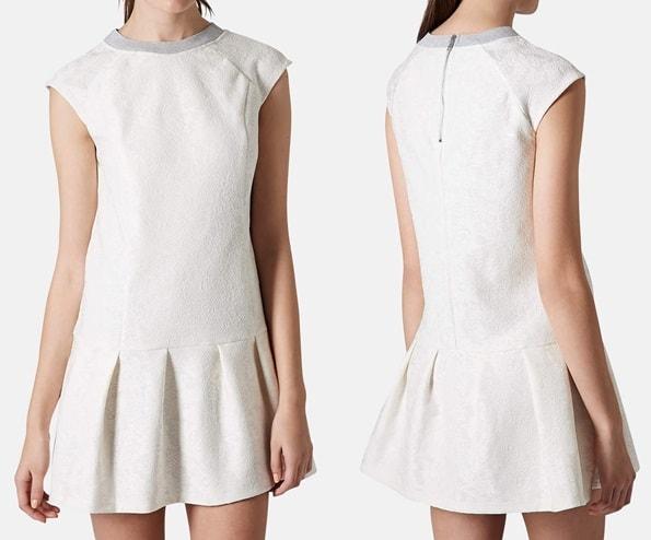 Topshop Bonded Lace Drop-Waist Dress