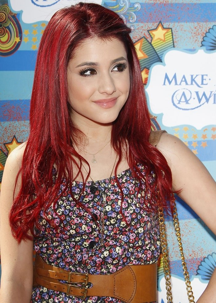 Actress Ariana Grande attends the Make-A-Wish Foundation