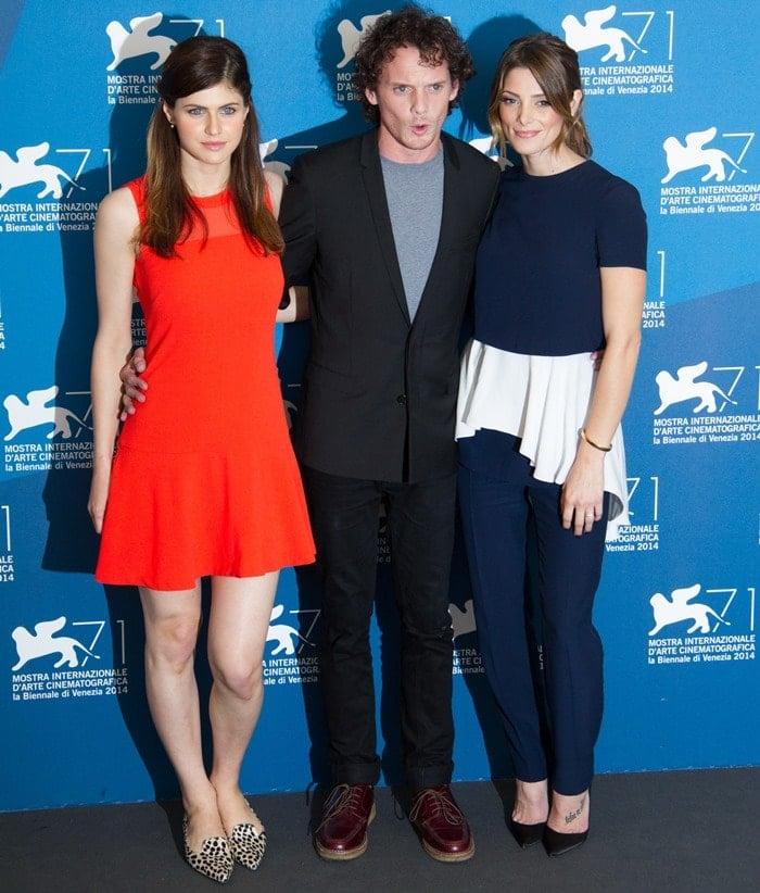 Ashley Greenewas joined by co-stars Alexandra Daddario and Anton Yelchin