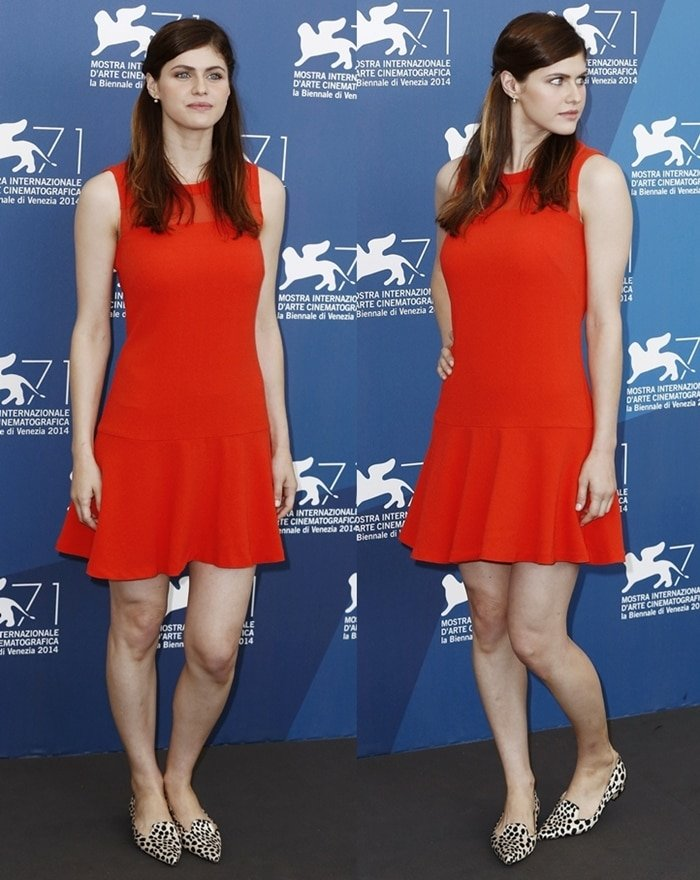 Alexandra Daddario at the photo call for 'Burying the Ex' at the 71st Venice International Film Festival held at Palazzo del Cinema in Venice, Italy, on September 4, 2014