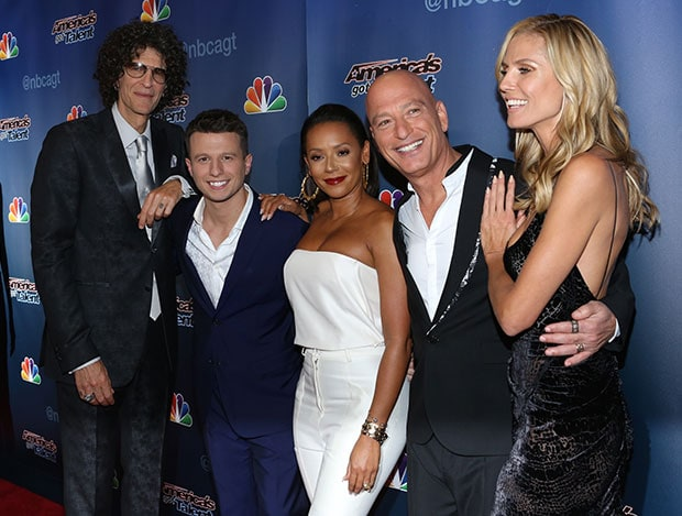 Howard Stern, Mat Franco, Melanie Brown, Howie Mendel, and Heidi Klum at the 'America's Got Talent' finale at Radio City Music Hall in New York City on September 17, 2014