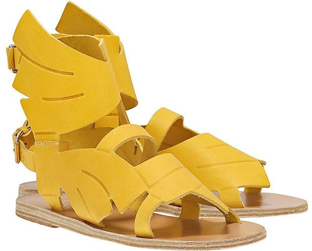 Ancient Greek x Carven Banana Leaf Mid Sandals