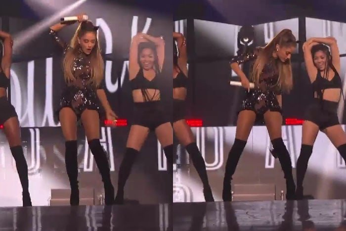 Ariana Grande blooper at iHeartRadio