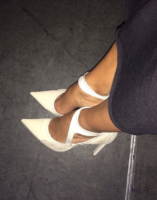 "Shared by Kim Kardashian on September 11, 2014, with the caption ""My fave shoes right now #Balenciaga"""