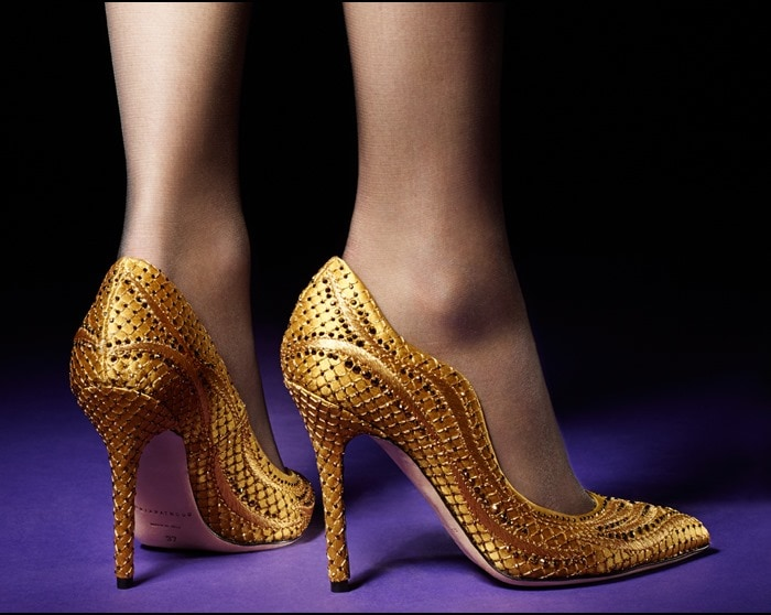"""Brian Atwood """"Besame"""" Pumps Gold"""