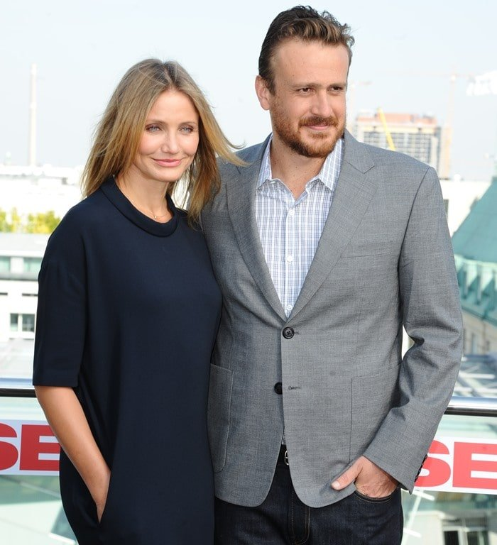 Cameron Diaz and Jason Segel promoting their movie 'Sex Tape' at China Club