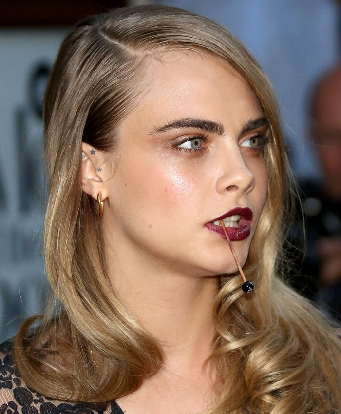 Cara Delevingne at the GQ Men of the Year Awards held at the Royal Opera House in London, England, on September 2, 2014