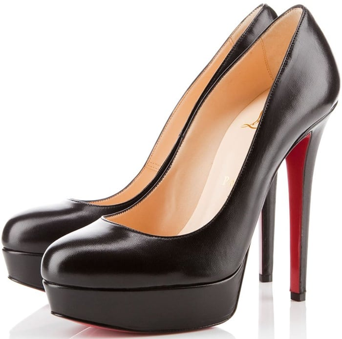 Black Bianca Patent Leather Platform Pumps