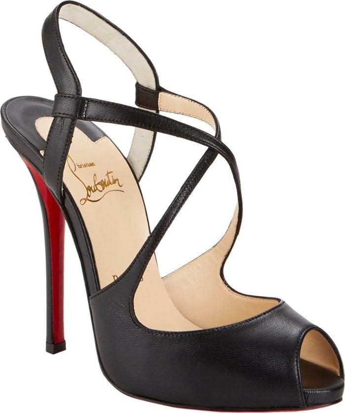 Christian Louboutin Black Cross Street Sandals