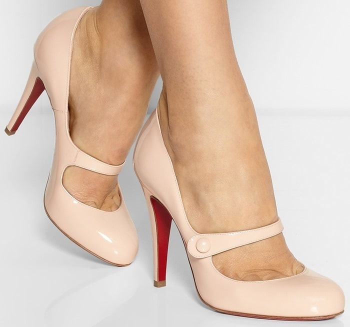 Christian Louboutin Pink Charleen 100 Patent leather Mary Jane Pumps