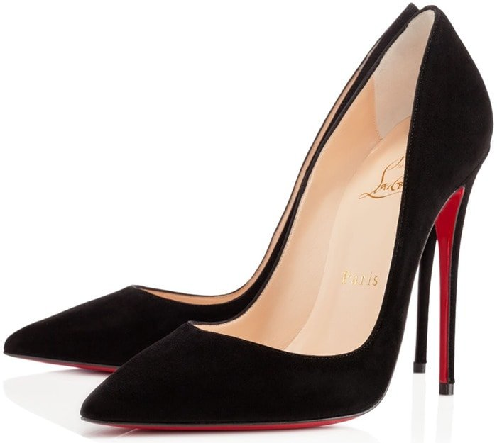 Christian Louboutin So Kate Pumps in Black Silk