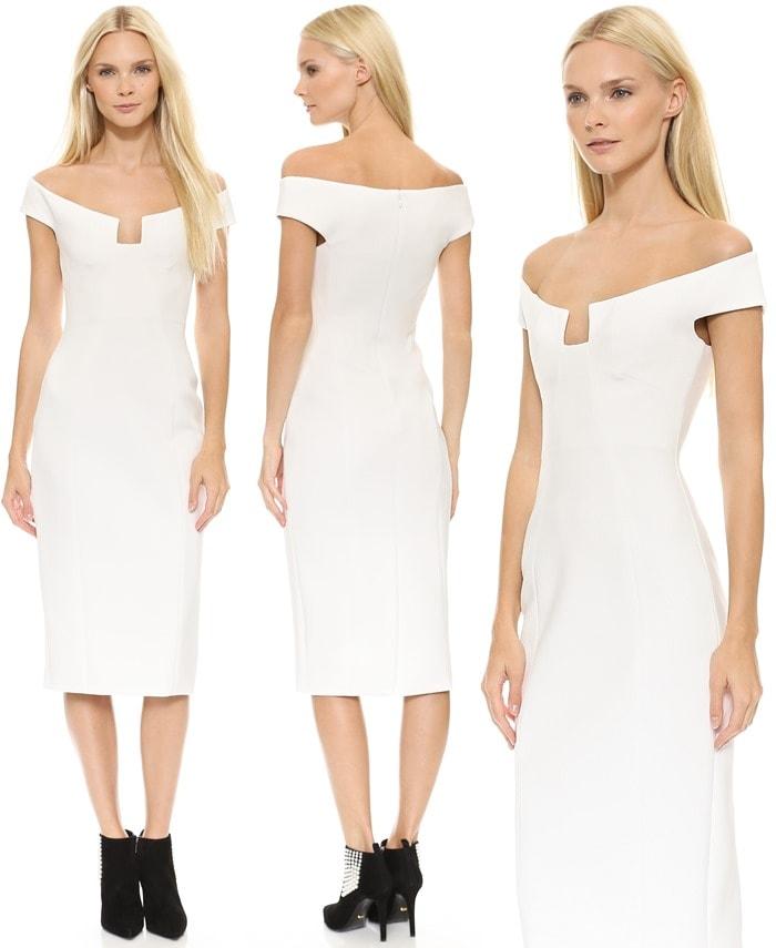 Cushnie et Ochs Angular-Neck Sheath Dress
