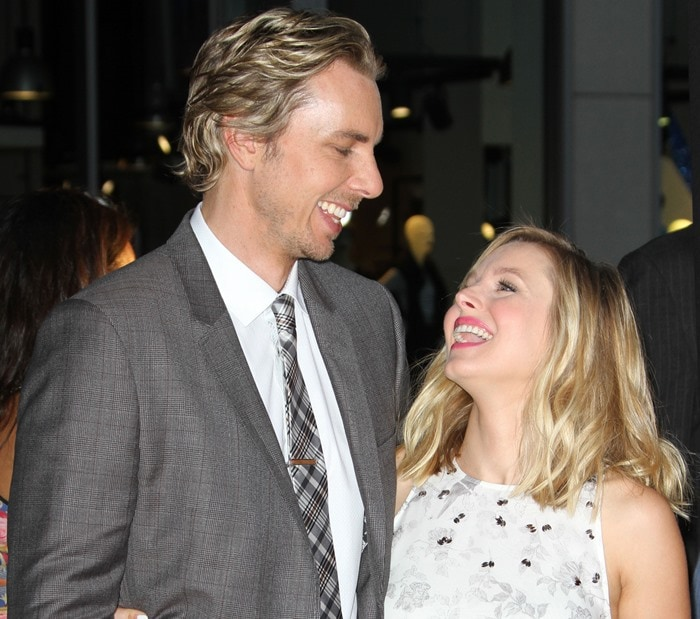 Dax Shepard and Kristen Bell at 'This Is Where I Leave You' premiere