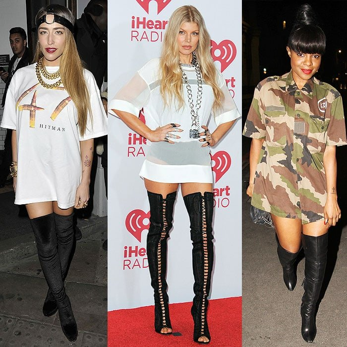 Delilah at The Forum for Rihanna's performance of her 777 tour in London, England, on November 19, 2012; Fergie at day 2 of the 2014 iHeartRadio Music Festival in Las Vegas, Nevada, on September 20, 2014; Keisha Buchanan at Steam and Rye in London, England, on May 10, 2014