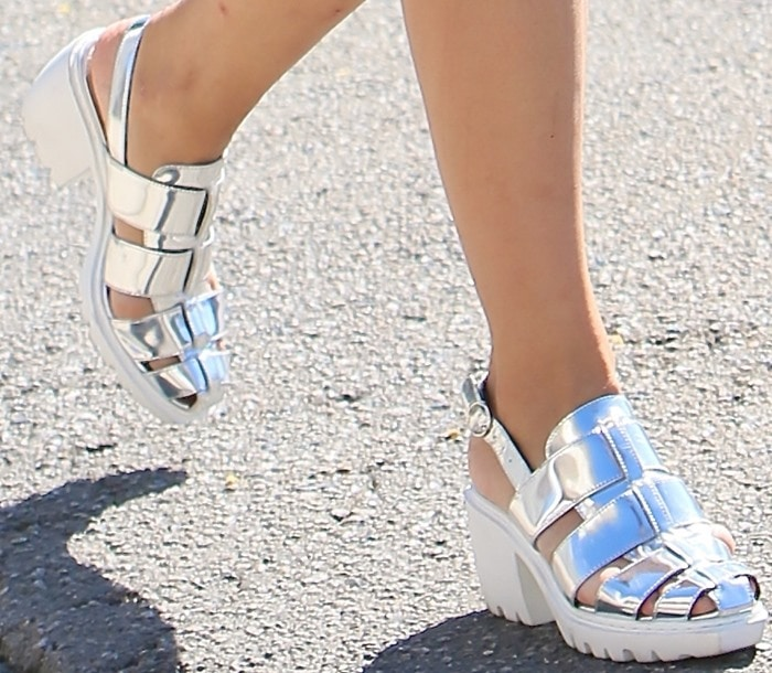 """Dianna Agron's""""Grunge Mirror"""" fisherman sandals by Opening Ceremony"""