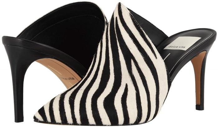 Dolce Vita Camala Zebra Calf Hair Heels