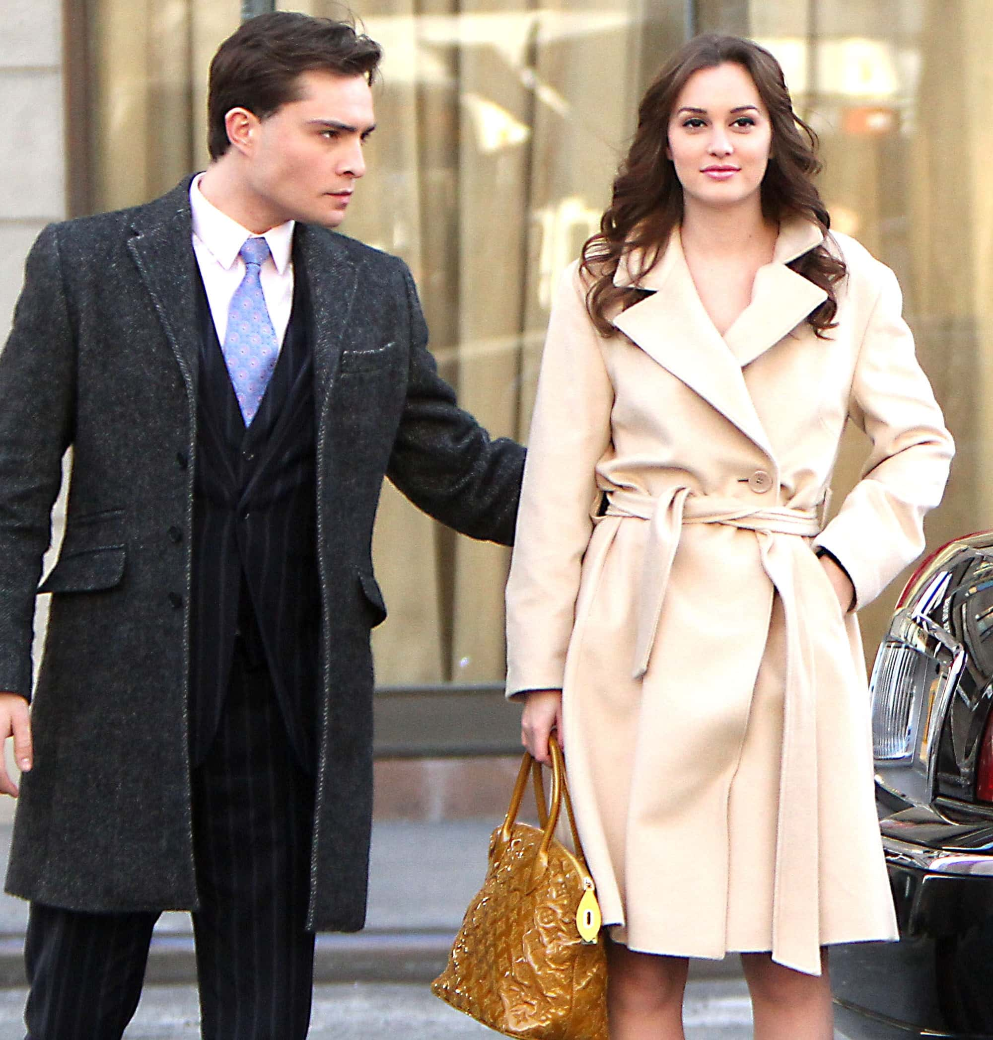 Ed Westwick says he fell in love with Leighton Meester