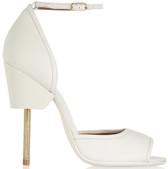 Givenchy Matilda Sandals in White Textured Leather