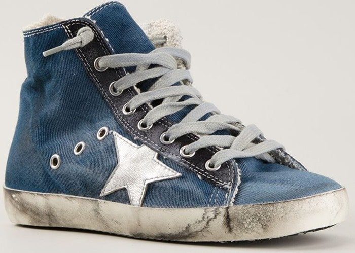 Golden Goose Deluxe Brand Blue Francy Hitop Sneakers