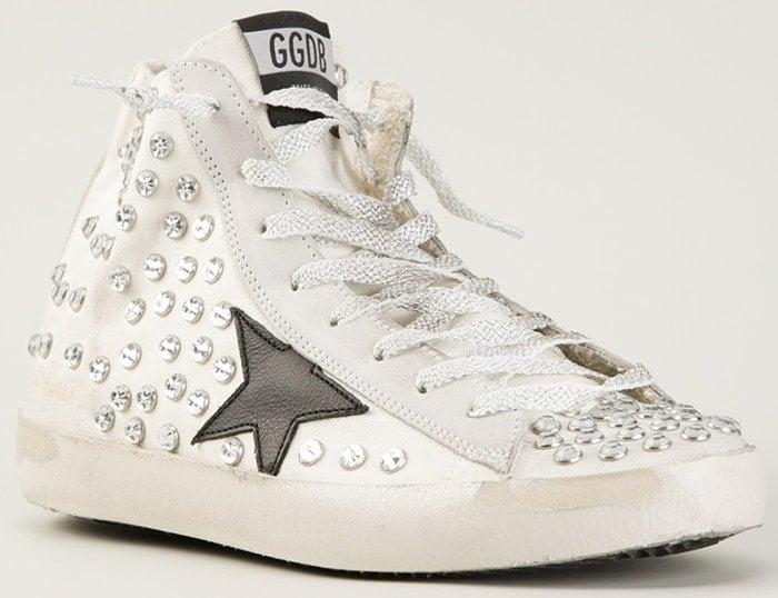 Golden Goose Deluxe Brand White Francy Hitop Sneakers