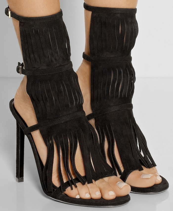Gucci Fringed suede sandals