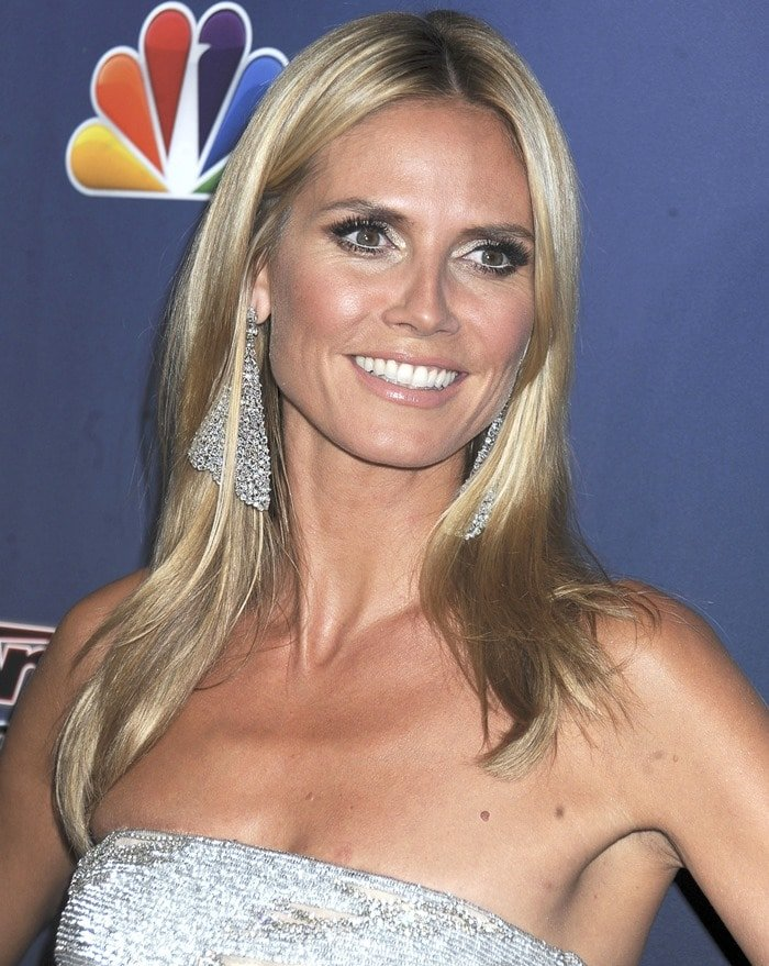 Heidi Klum's chandelier diamond earrings