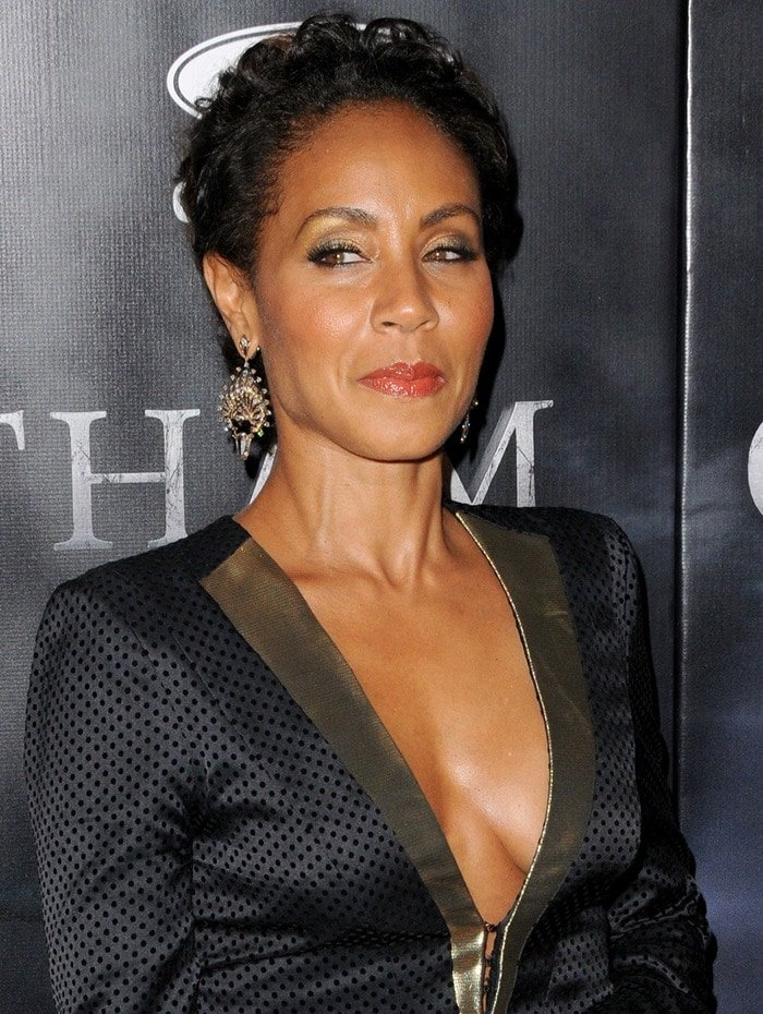 Jada Pinkett-Smith at the premiere of her new show, 'Gotham', held at the New York Public Library