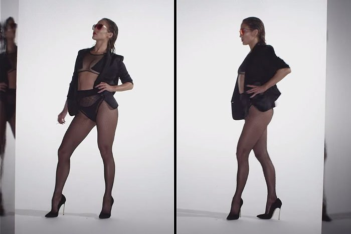 """Jennifer Lopez struts her stuff at the beginning of the """"Booty"""" teaser music video"""