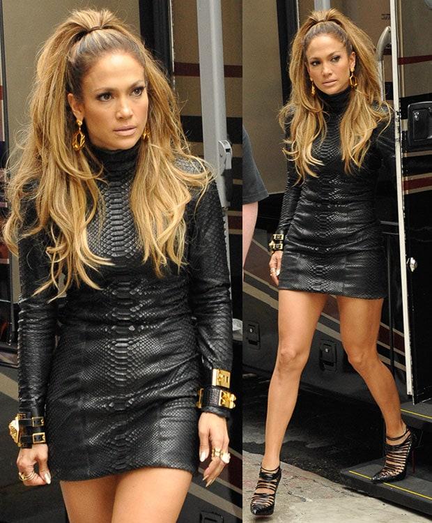 Jennifer Lopez filming for Fat Joe's