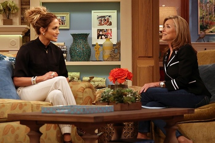 Jennifer Lopez appearing on The Meredith Vieira Show in New York City, taped on September 4, 2014