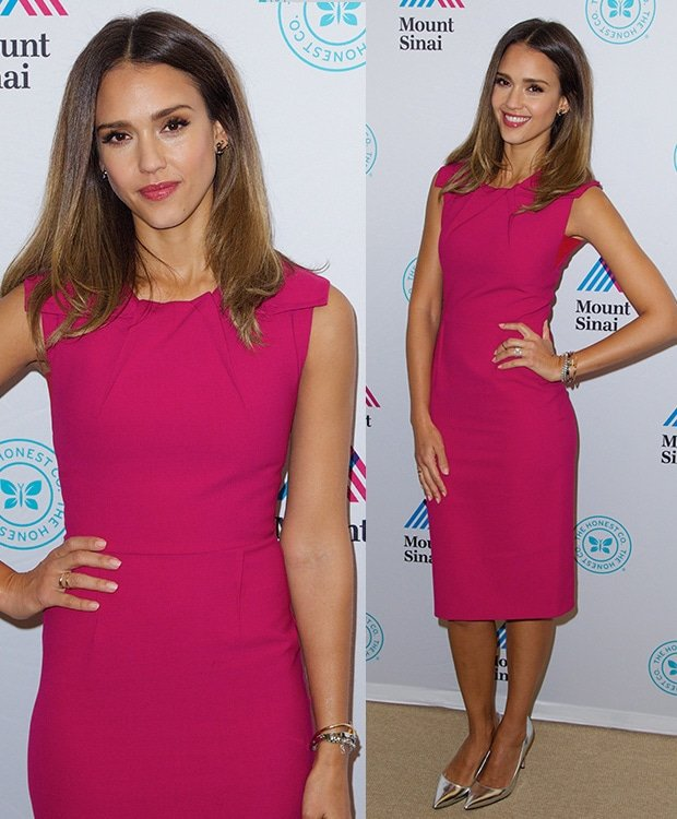 Jessica Alba at the unveiling of The Honest Company's Ultra Clean Room