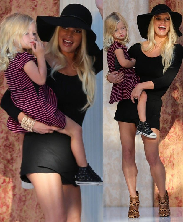Jessica Simpson and Maxwell at the Nordstrom Fashion Show