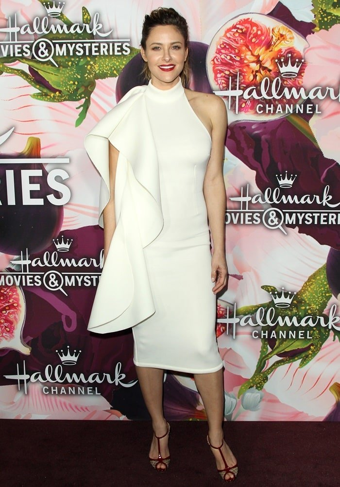Actress Jill Wagner attends Hallmark Channel and Hallmark Movies and Mysteries Winter 2018 TCA Press Tour