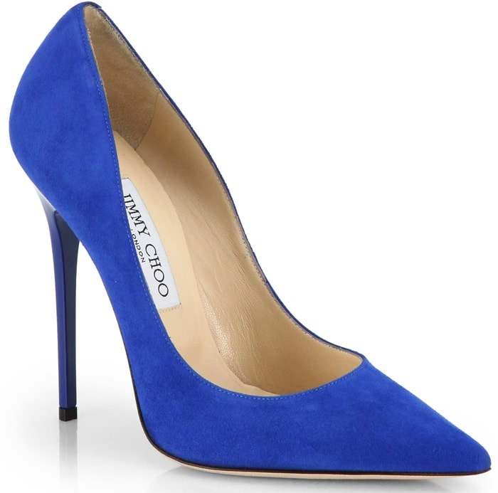 Jimmy Choo Blue Anouk Suede Pumps