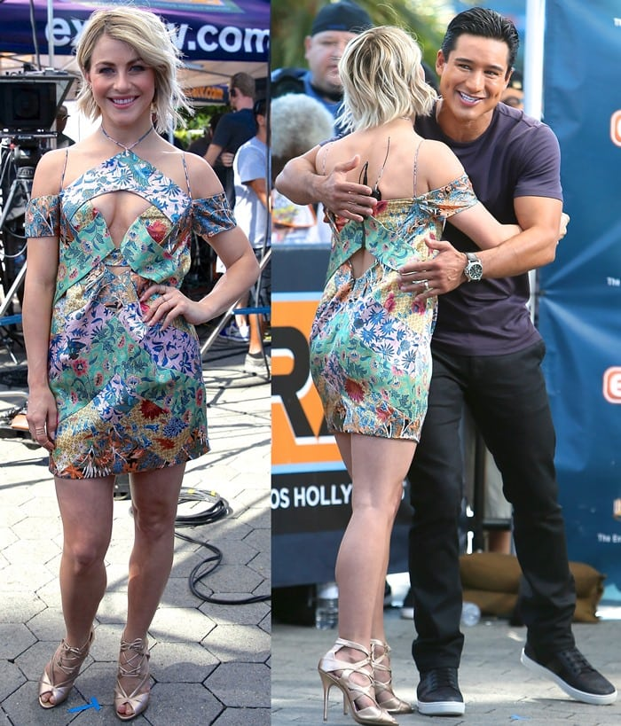 Julianne Hough interviewed by Mario Lopez for the television show 'Extra'