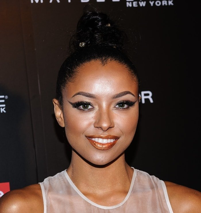 Kat Graham at InStyle Magazine's 20th Anniversary Party held at Diamond Horseshoe at the Paramount Hotel in New York City on September 8, 2014