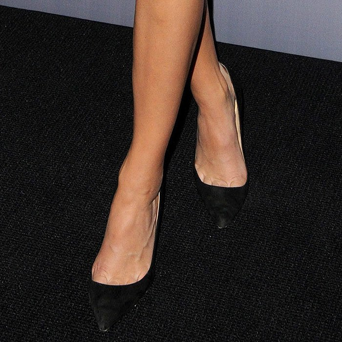 "Kendall Jenner's go-to Manolo Blahnik ""BB"" suede pumps"