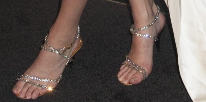 Kendall Jenner's spider feet injeweled sandals