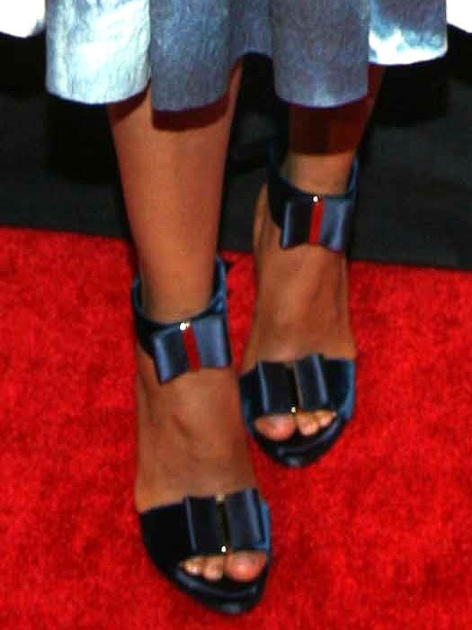 Roger Vivier Le Smoking bow sandals on Kerry Washington