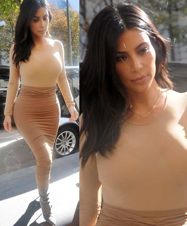 Kim Kardashian was spotted enjoying her time in the City of Light doing what she does best — shopping!