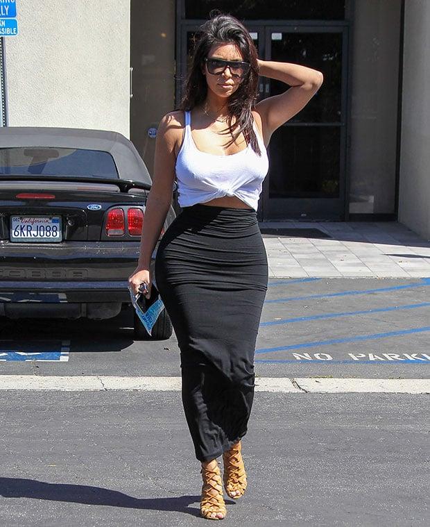 Kim Kardashianturned the carpark at Bunim/Murray production studio into her very own catwalk