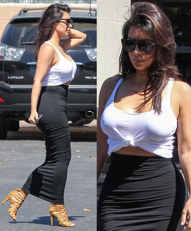 Kim Kardashian at the Bunim/Murray Production studios in Los Angeles on September 17, 2014