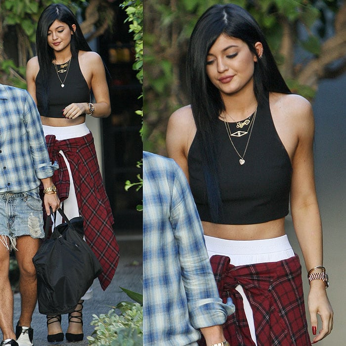 Kylie Jenner stopping by Andy LeCompte Salon in West Hollywood, California, on September 16, 2014